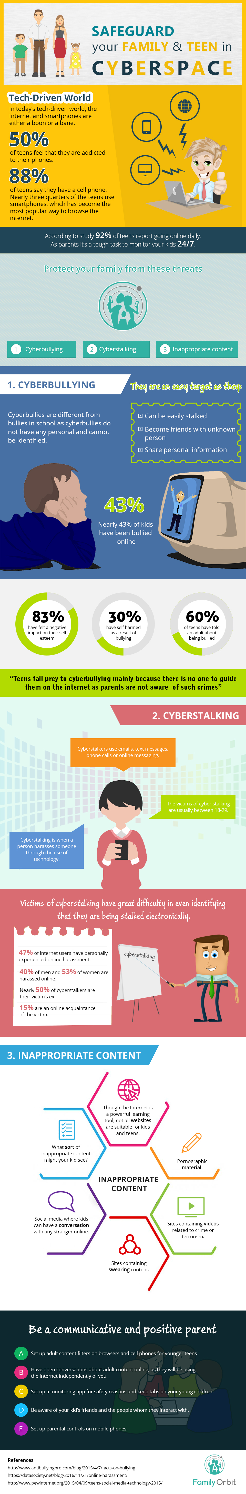 [Infographic] Safety in Cyberspace for Your Family - An Infographic from Family Orbit Blog